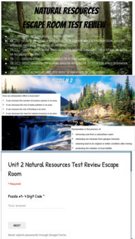 Natural Resources Unit Lesson Plans, Study Guide & Test!!