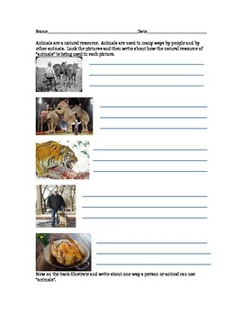 Natural Resources - Using Animals