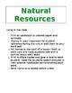Natural Resources Vocab Cards