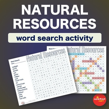 Natural Resources * WordSearch * Vocabulary * Warm Up * Bell Ringer