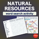 Natural Resources * WordSearch * Vocabulary * Warm Up * Be