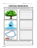Natural Resources Worksheet