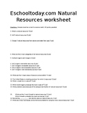 Natural Resources NGSS Study Guide/Practice Test