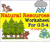 Natural Resources Worksheet For G.3-4