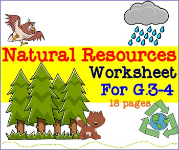 Natural Resources Worksheet For G.3-4