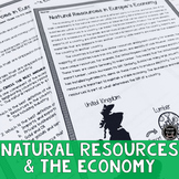 Natural Resources in Europe's Economy Reading Activity (SS6E9, SS6E9d)