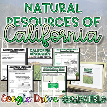 Natural Resources of California {Digital AND Paper}