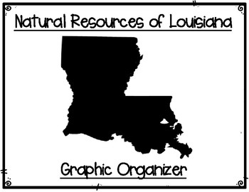 Natural Resources of Louisiana Graphic Organizers