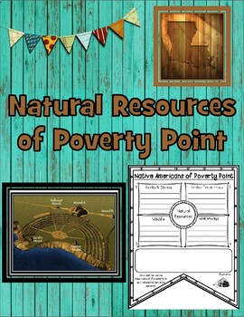 Natural Resources of Louisiana's Poverty Point Native Americans Pennant Banner