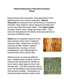 Natural Resources of the Early Humans: Wood