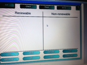 Natural Resources (renewable and non-renewable) Smart board Sort
