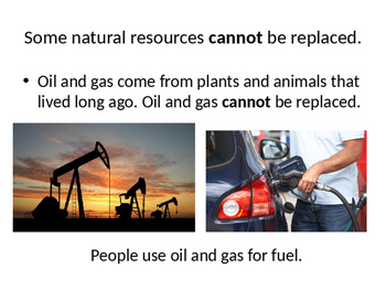 Natural Resources vs. Manmade Resources PowerPoint
