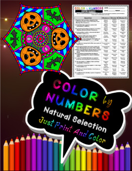 Natural Selection Color By Numbers