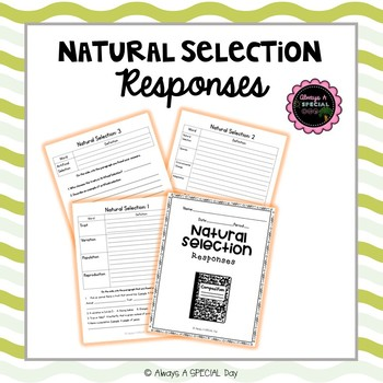 Natural Selection Comprehension Responses