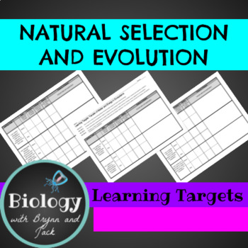 Natural Selection and Evolution Learning Targets