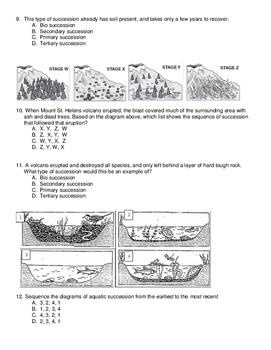 Natural Selection and Succession Exam