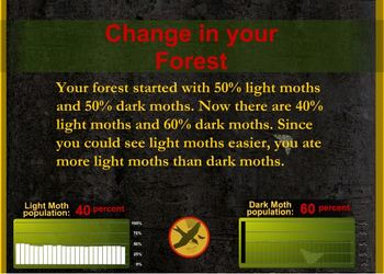 Natural Selection with Peppered Moths Computer Simulation