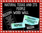 Natural Texas and Its People  Word Wall || Texas History