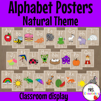 Natural Theme Alphabet Posters {Alphabet Charts}