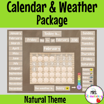 Natural Theme Calendar and Weather Pack