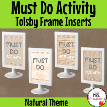 Natural Theme Must Do Activity Signs: Tolsby Frame Inserts