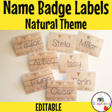 Natural Theme Name Badge Labels for Plastic Card Holders