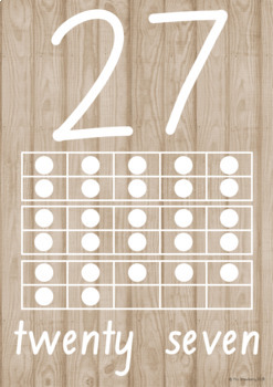 Natural Theme Number Posters 0-30 With Ten Frames {Numbers to 30}