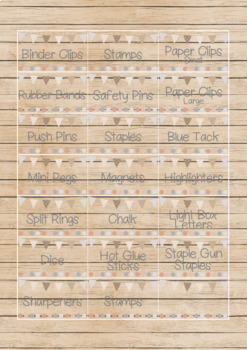 Natural Theme Toolbox Drawer Labels ** Editable