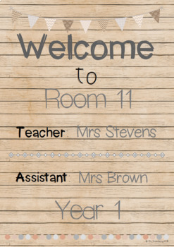 Natural Theme Welcome Posters **Editable