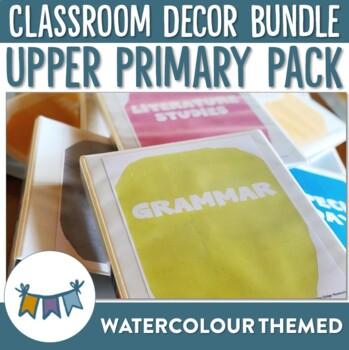 Watercolour Classroom Decor for Upper Primary