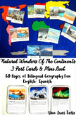 Natural Wonders Of The Continents 3 Part Cards Montessori