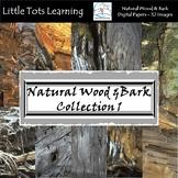 Natural Wood & Bark Digital Papers 1 - Natural Wood & Bark