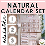 Natural / Wood Calendar Set