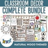 Natural Wood Themed Classroom Decor Bundle