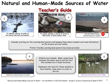 Natural and Human-Made Sources of Water - Lesson 5