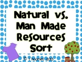 Natural and Man Made Resources Sort