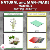 Natural and Man-made Materials Sorting Cards