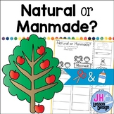 Natural and Manmade: Cut and Paste Sorting Activity