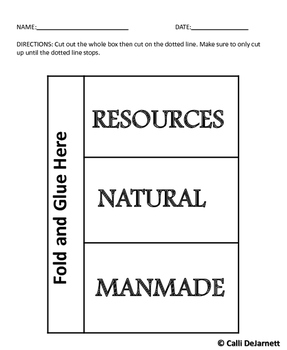Natural and Manmade Resources Journal Glue-ables