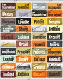 Natural color GLAM vision board words | cork board | pin b