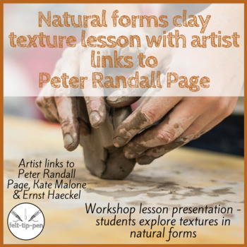 Natural forms clay texture lesson with artist links to Peter Randall Page