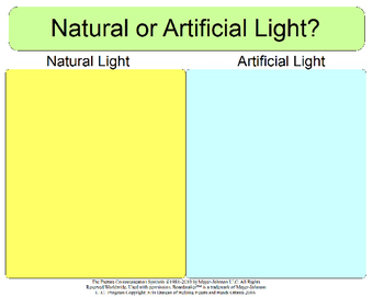 Natural or Artifical Light - Sorting