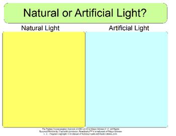 Natural or Artifical Light - Sorting