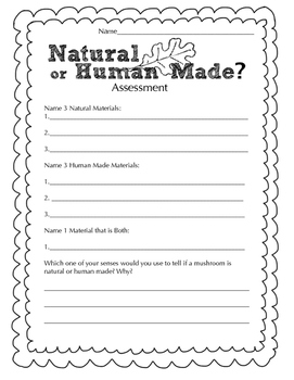 Natural or Human Made Science Observation Assessment