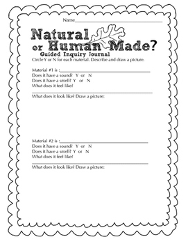 Natural or Human Made Science Observation Journal