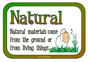 Natural or Man-made Picture Cards