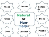 Natural or man-made materials (classifying materials and exploring properties)
