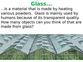 Natural or man-made materials (classifying materials and exploring properties)
