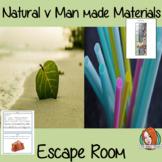 Natural v Man made Materials Escape Room Game