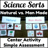 Natural vs Man Made Resources Center Sorting